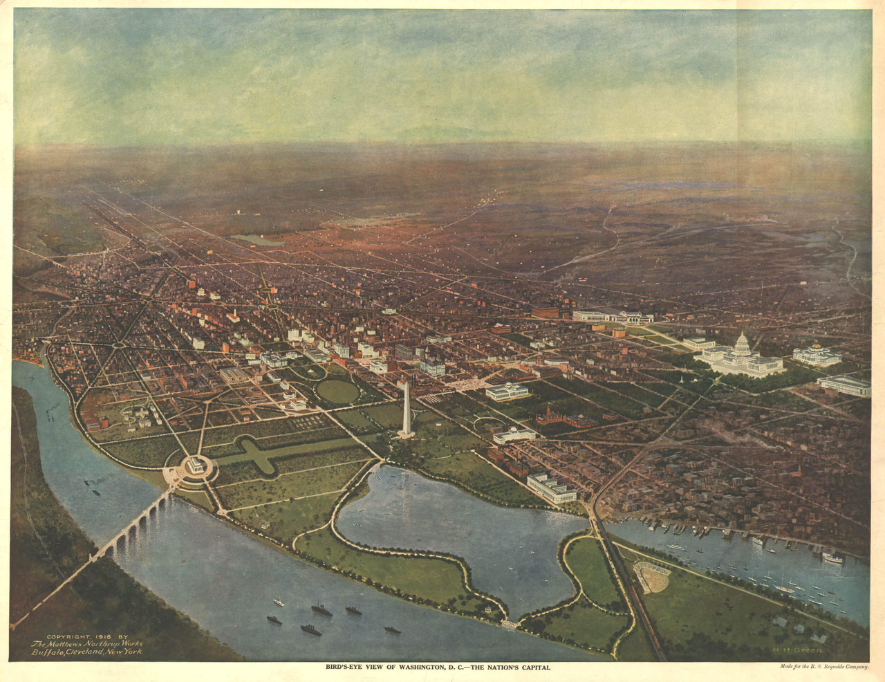 "1930s ""Chicago"" Vintage Style Panoramic Birds-eye View Map 18x24"