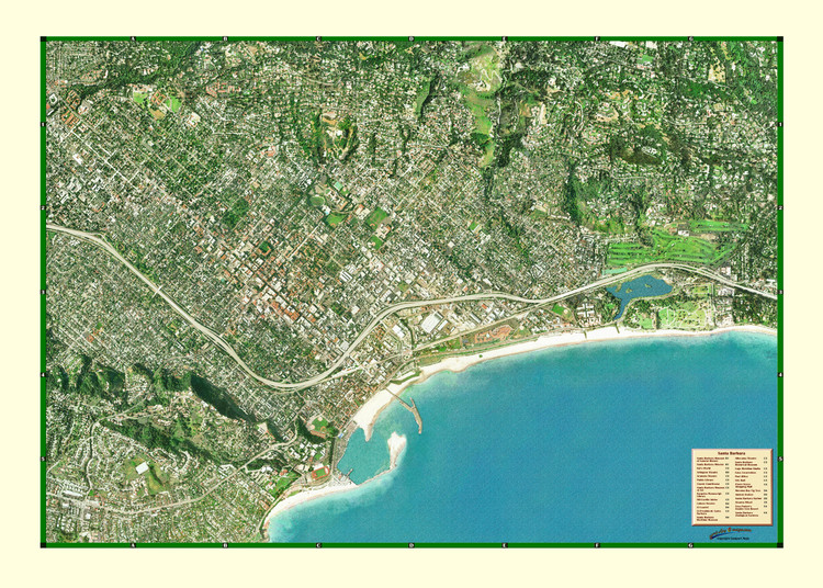 Santa Barbara from Space Map from Compart