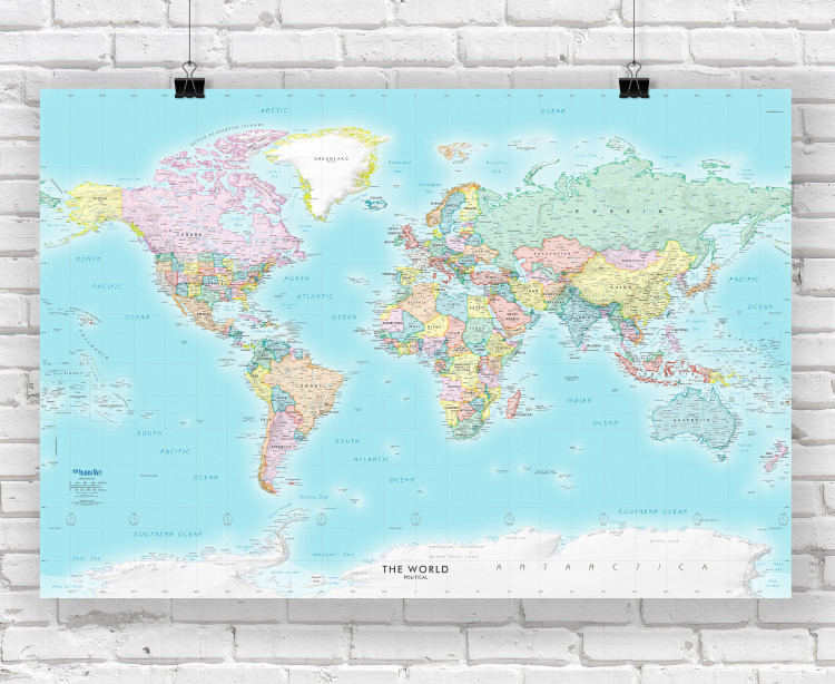 Detailed World Political Wall Map