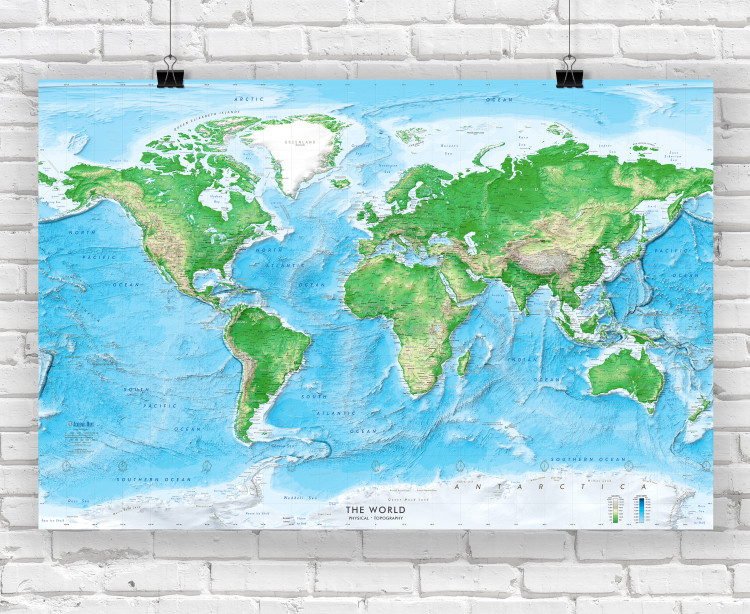 Detailed World Physical Wall Map | Large Map Poster
