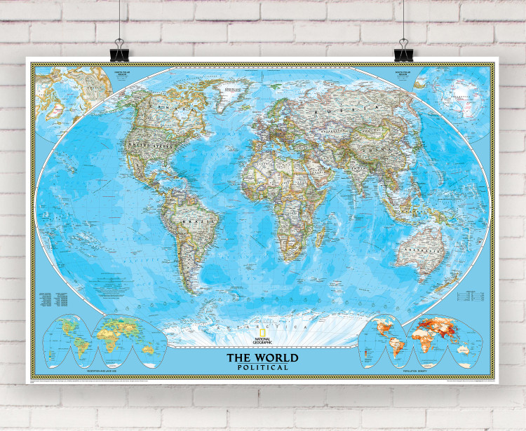 National Geographic World Classic Political Wall Map