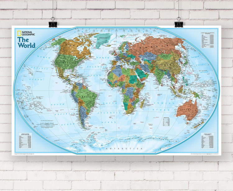 National Geographic World Explorer Wall Map