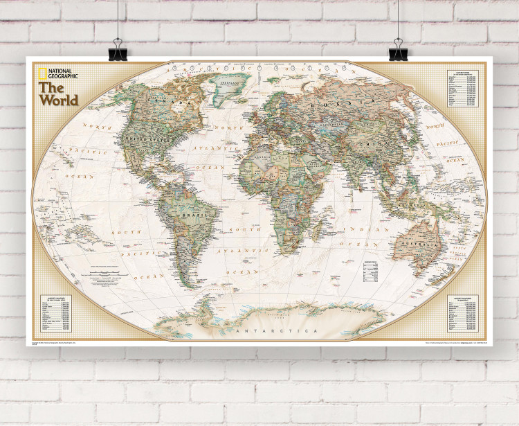 National Geographic World Explorer Executive Wall Map