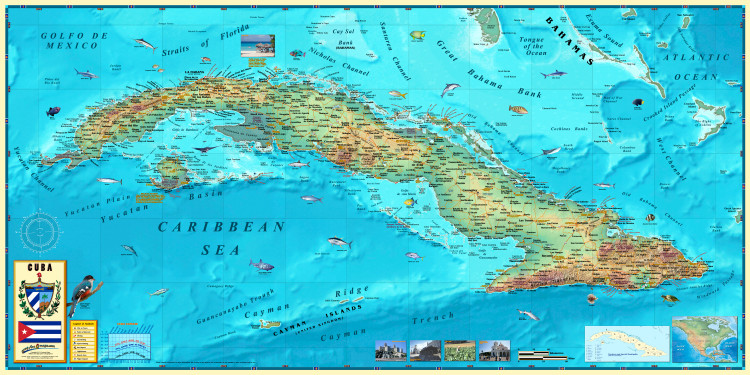 Cuba Wall Map by Compart Maps