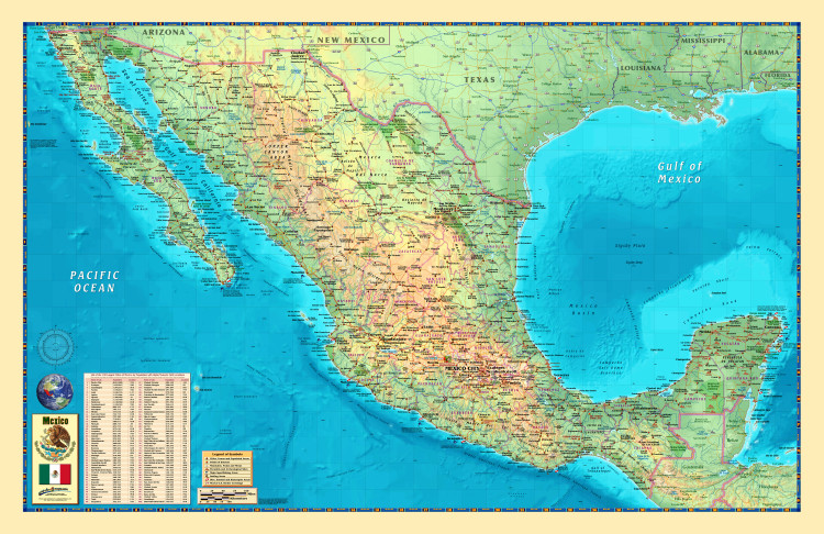 Mexico Wall Map by Compart Maps