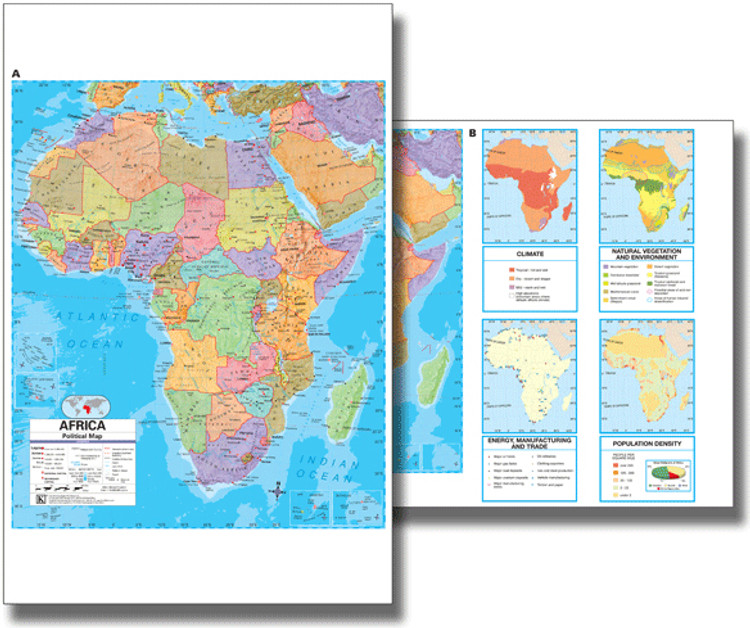 Africa Political Desk Map from Kappa Maps