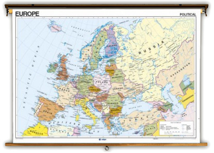 French Language Europe Political & Physical Maps from Edigol