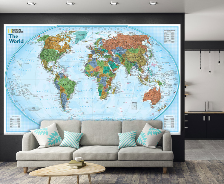 National Geographic World Explorer Map Mural