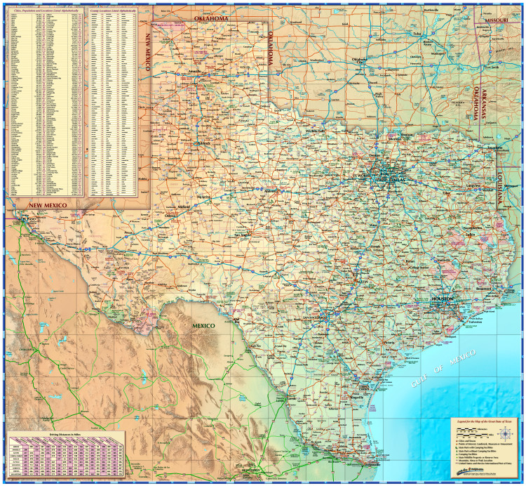 Texas Illustrated Map from Compart