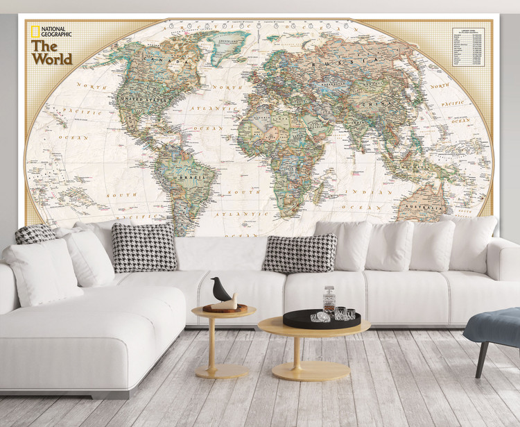 National Geographic World Explorer Executive Map Mural