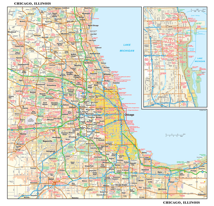 Chicago Reference Map from GeoNova