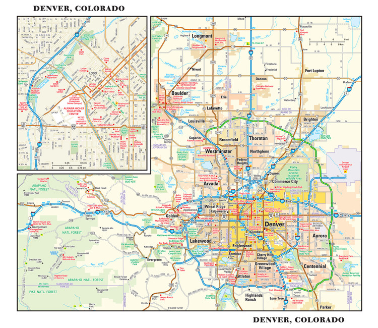 Denver Reference Map from GeoNova
