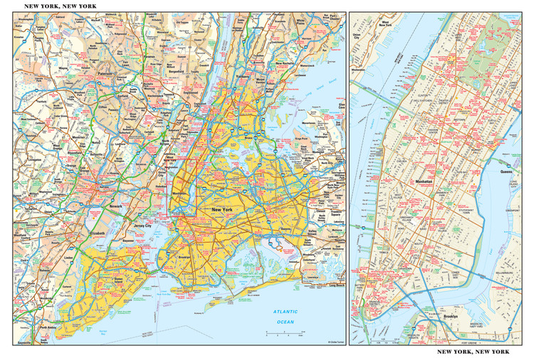 New York City Reference Map from GeoNova