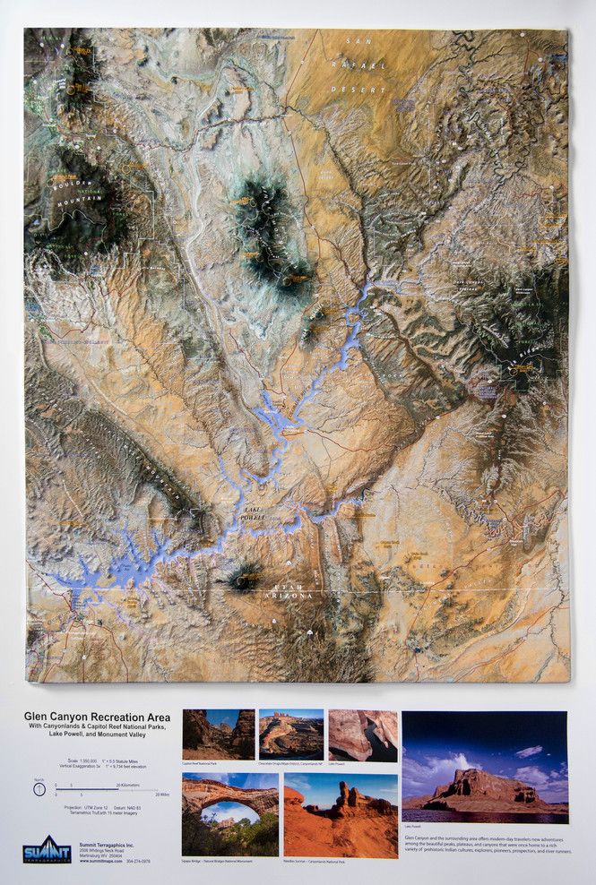 Glen Canyon Raised Relief Map