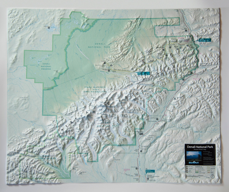 Denali National Park Raised Relief Map