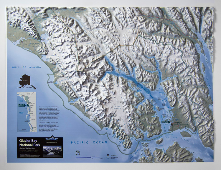 Glacier Bay National Park Raised Relief Map