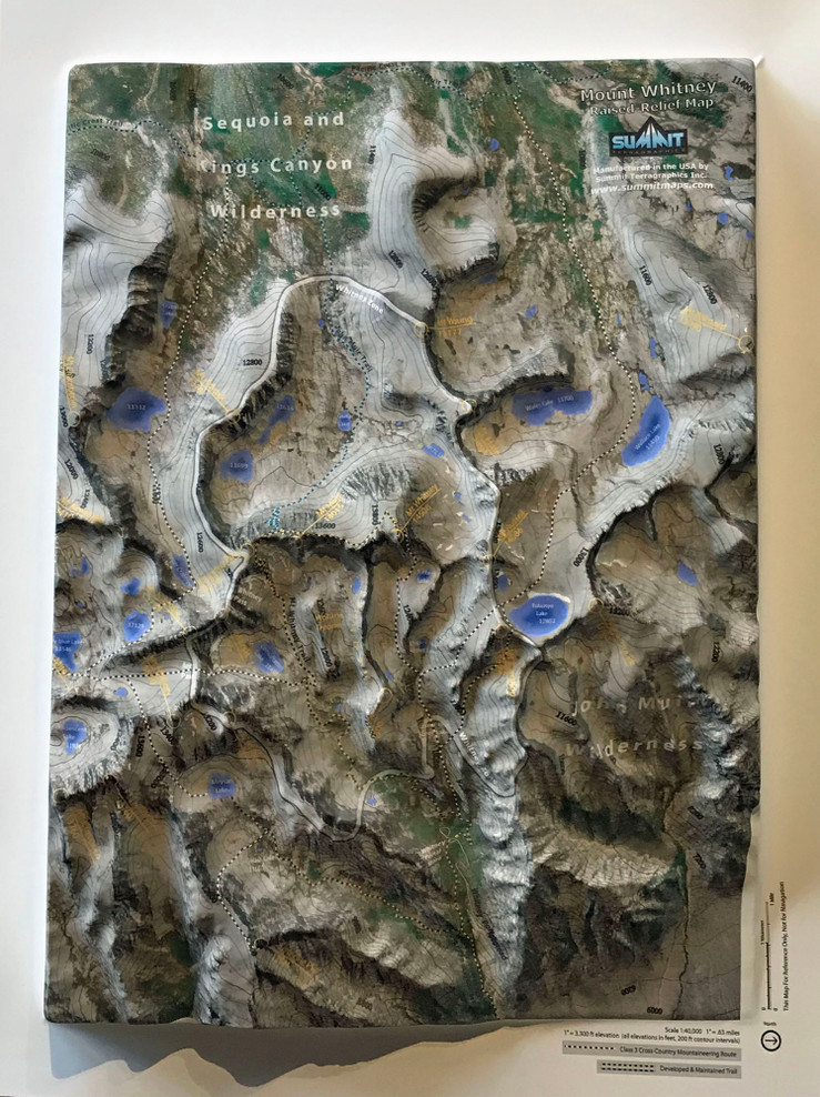 Mount Whitney Raised Relief Map