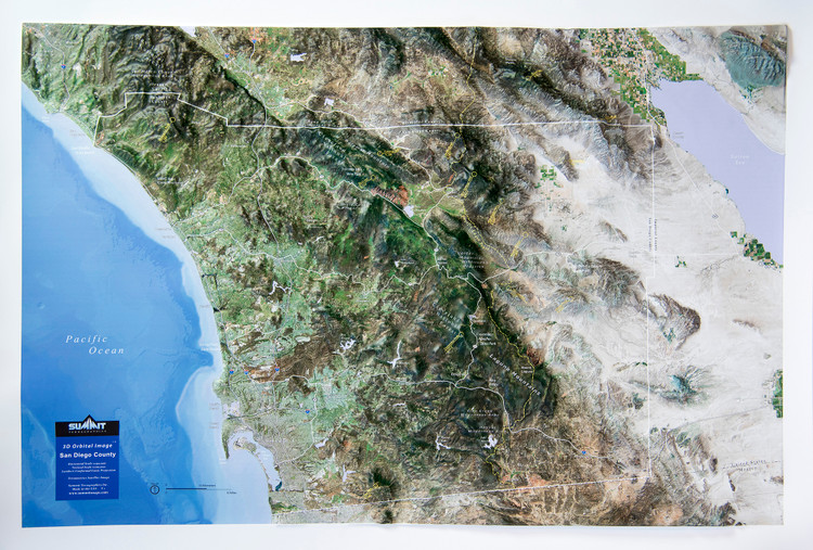 San Diego, CA Raised Relief Map