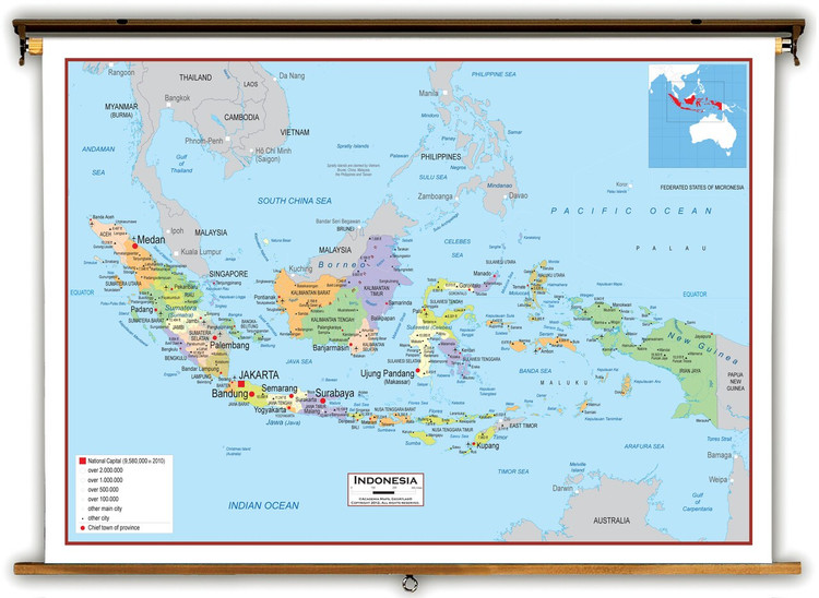 Indonesia Political Educational Map from Academia Maps