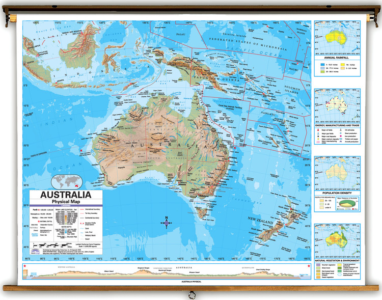 Advanced Australia Physical Map from Kappa Maps
