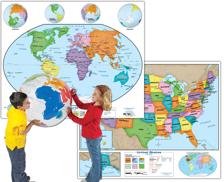 Economical Early Learner Classroom Package from Academia Maps