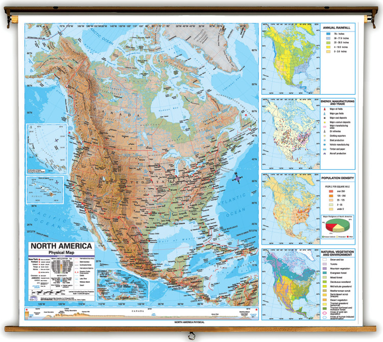 Advanced North America Physical Map from Kappa Maps