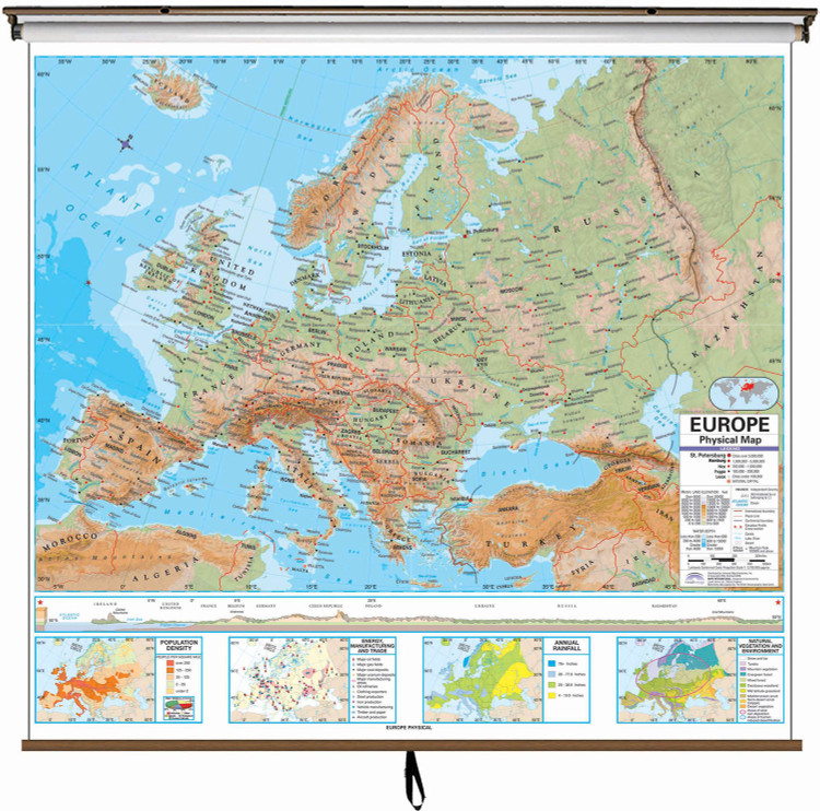 Advanced Europe Physical Map from Kappa Maps