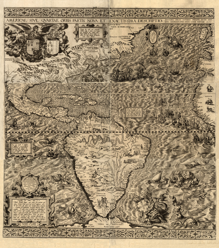 Historic Map - The Americas - 1562