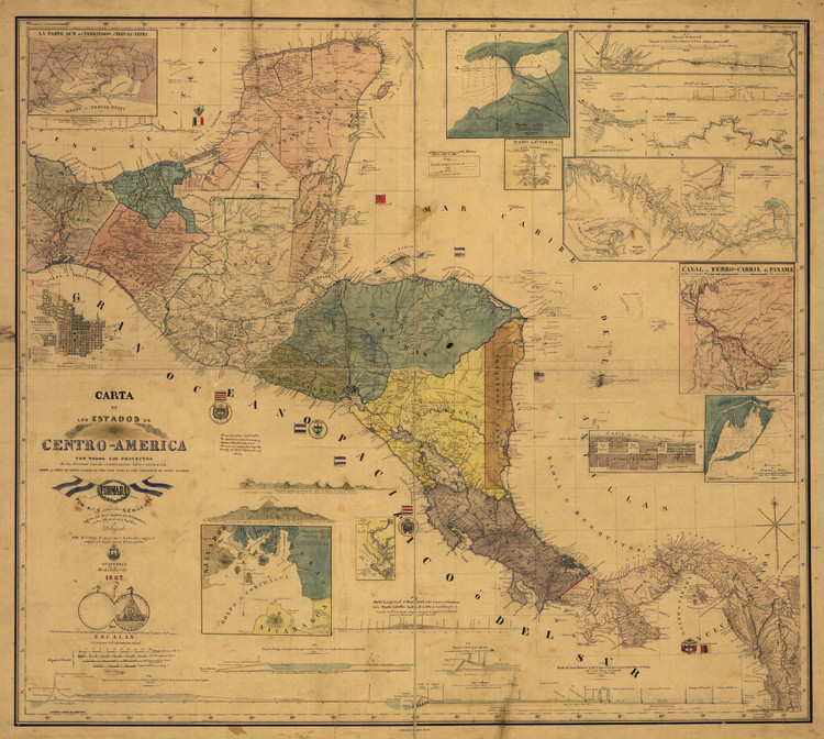Historic Map - Central America - 1862