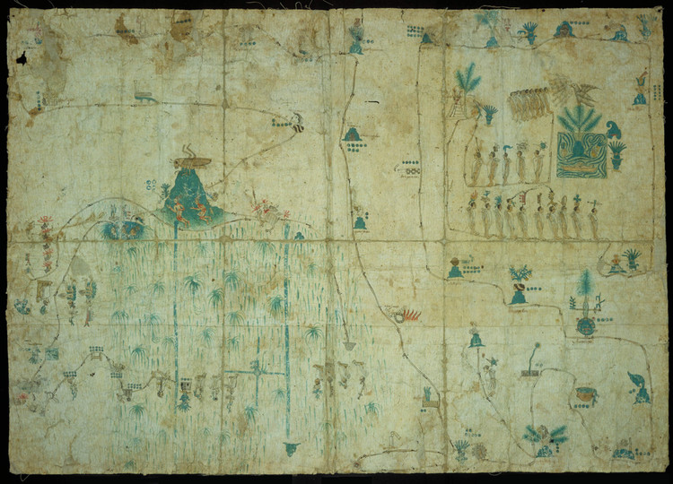 Historical Map of Mexico - 1500's
