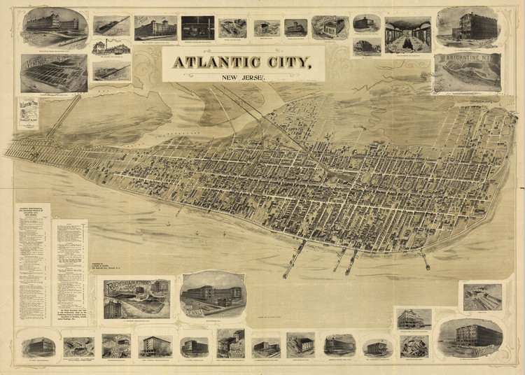 Historic Map - Atlantic City, NJ - 1900