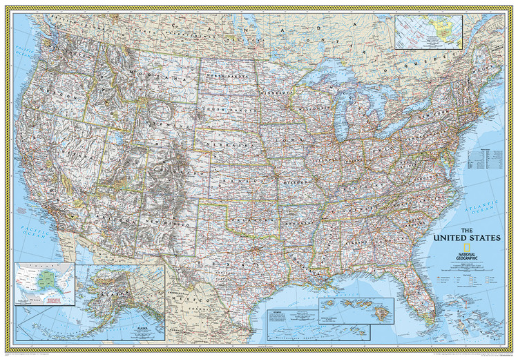 National Geographic United States Mural Map (USA)