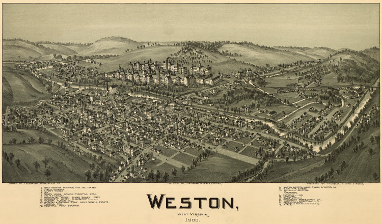 Historic Map - Weston, WV - 1900