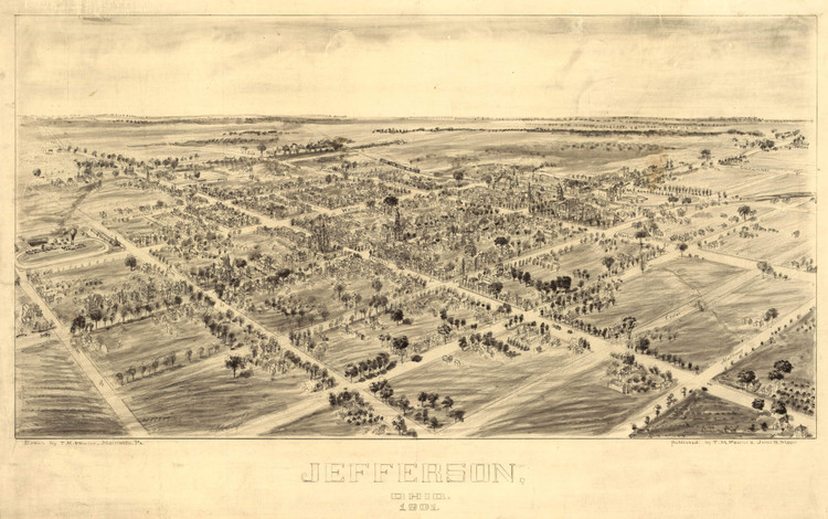 Historic Map - Jefferson, OH - 1901
