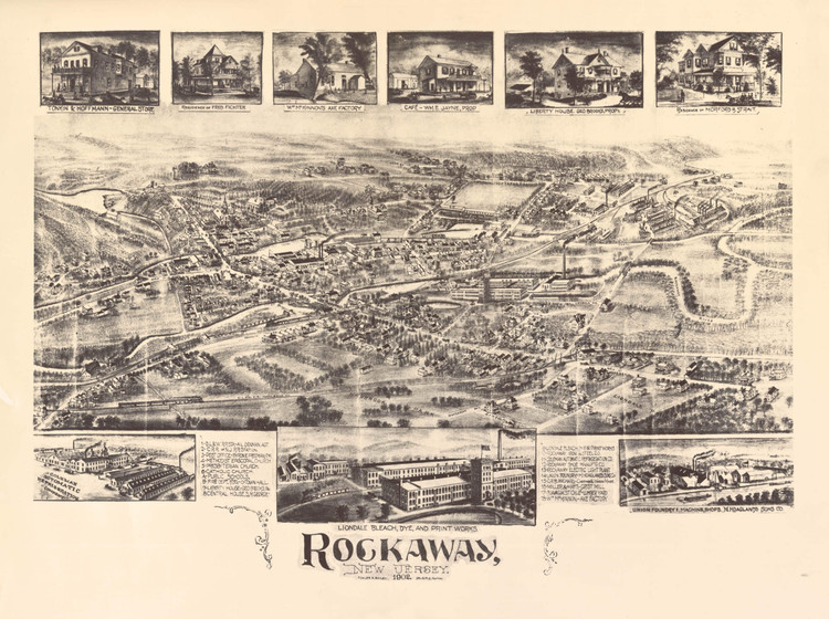 Historic Map - Rockaway, NJ - 1902