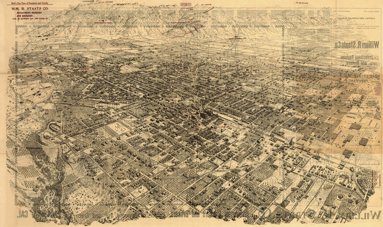 Historic Map - Pasadena, CA - 1903