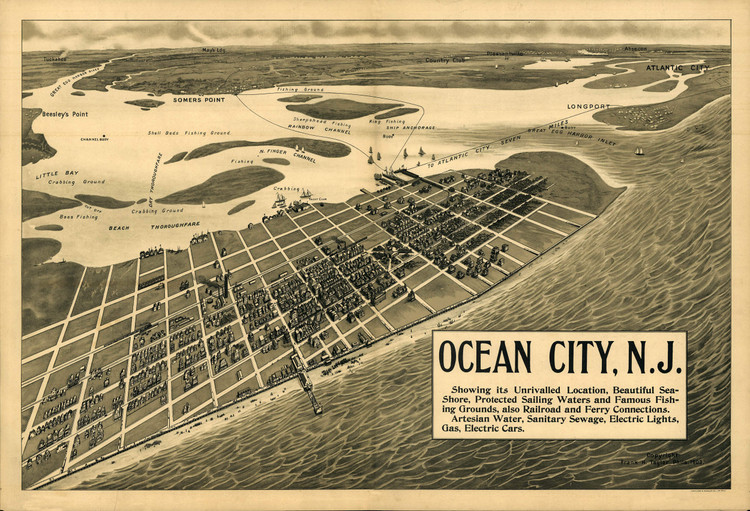 Historic Map - Ocean City, NJ - 1903