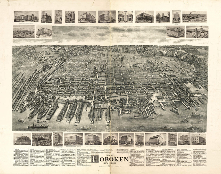 Historic Map - Hoboken, NJ - 1904