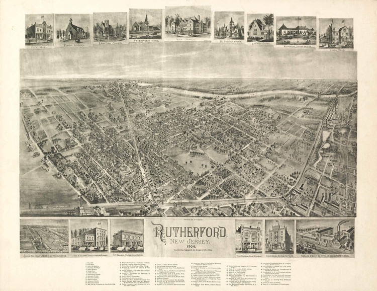 Historic Map - Rutherford, NJ - 1904