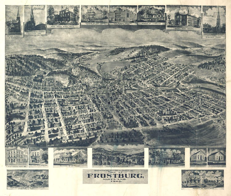 Historic Map - Frostburg, MD - 1905