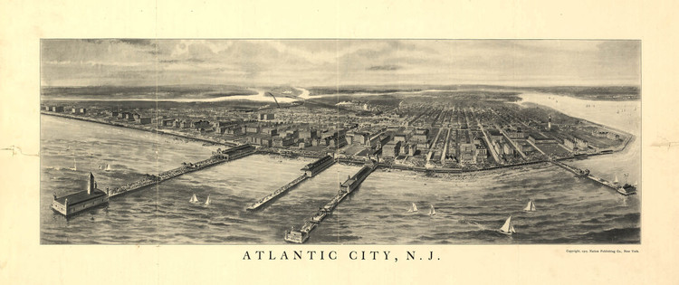 Historic Map - Atlantic City, NJ - 1905