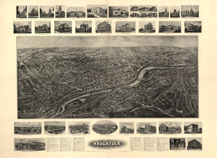Historic Map - Naugatuck, CT - 1906