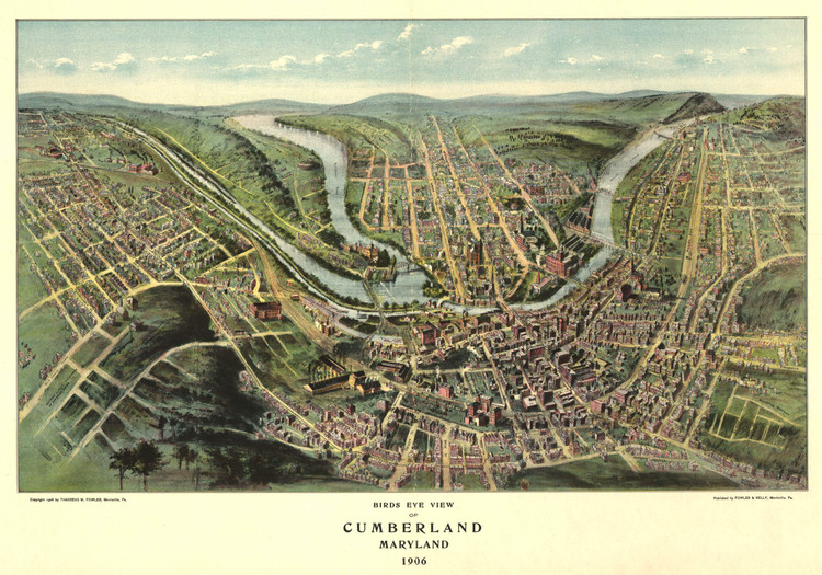 Historic Map - Cumberland, MD - 1906