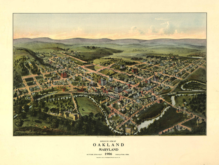 Historic Map - Oakland, MD - 1906