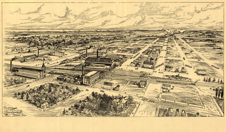Historic Map - Milwaukee, WI - 1906