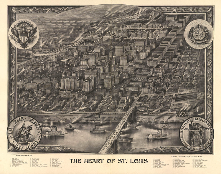 Historic Map - St. Louis, MO - 1907