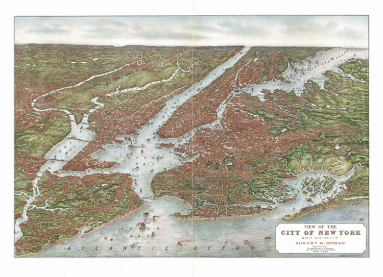 Historic Map - New York City, NY - 1907