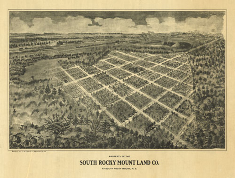 Historic Map - South Rocky Mount, NC - 1907