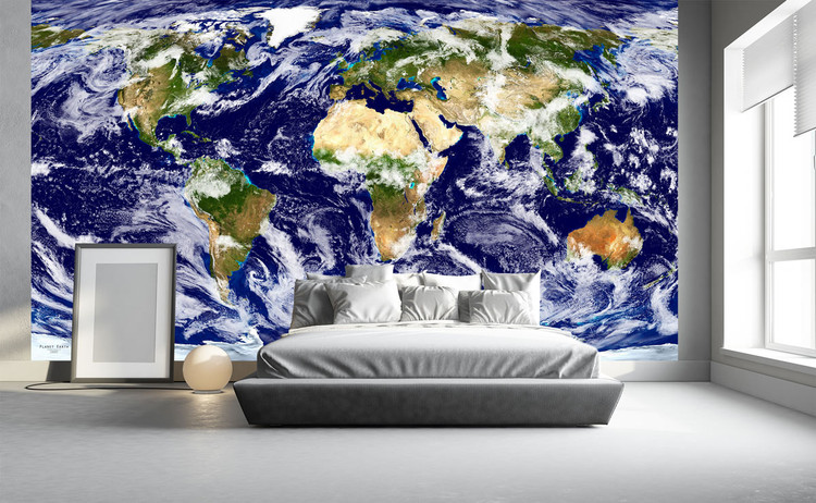 Planet Earth Satellite Imagery of the World Wall Mural