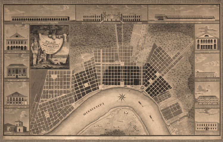 Historic Map - New Orleans, LA - 1815